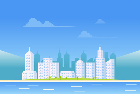 city background: Clear city landscape background.