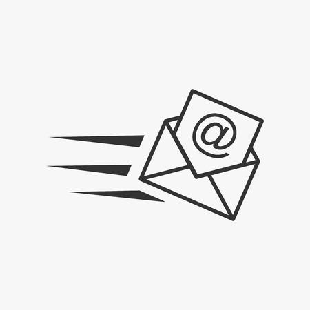 correo electronico: Ilustración del email. Correo de propaganda.