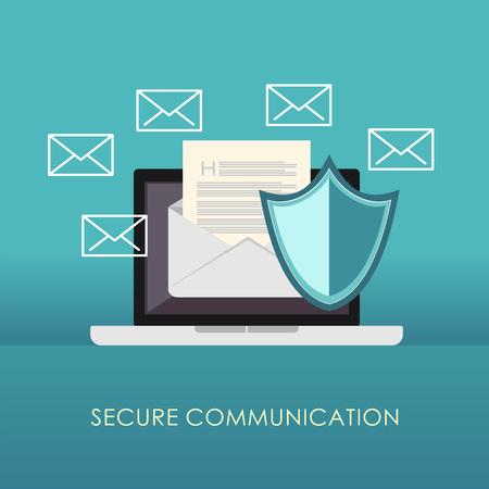 通信をセキュリティで保護します。電子メール保護。