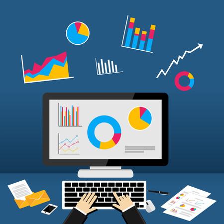 dashboard: Business dashboard on computer.