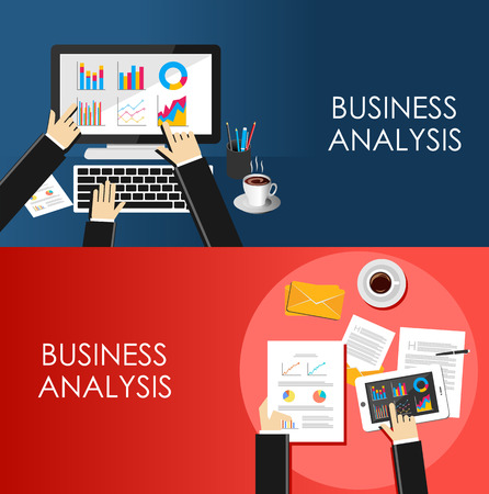 business analysis: Business Analysis concept. Illustration