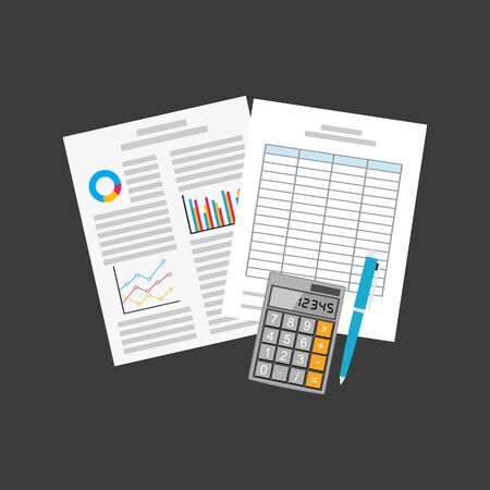 Business document. Spreadsheets