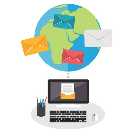 Email marketing. Email concept. Illustration
