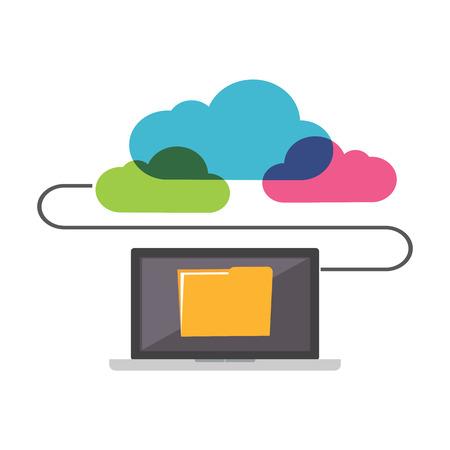 Online Storage. File Sharing concept.