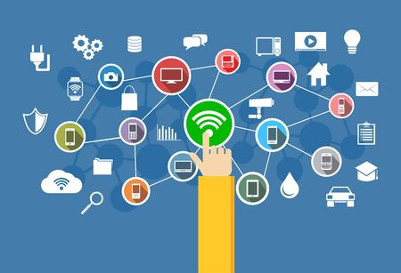 wireless connection: Wireless connection. IoT. Information Technology concept.