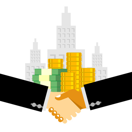 business deal: Handshake business deal