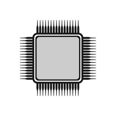 ic: Chip icon, microchip icon.