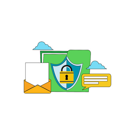 firewall: Security system access data concept. Security of data access. Modern flat design for Web Banner , Website Element , or Web Template