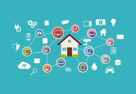 remote: Smart home concept. Internet of things control.
