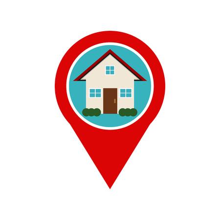 Home location marker icon. Home location spot.