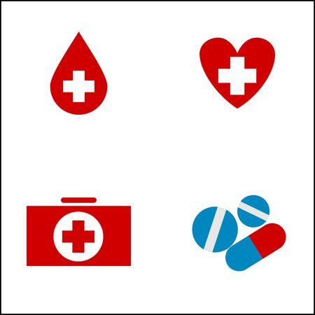simbolo medicina: icono de la medicina. Cuidado de la salud o símbolo muestra médica.