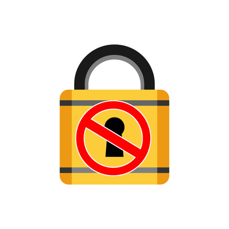 locked: Do not open. Locked out. Padlock