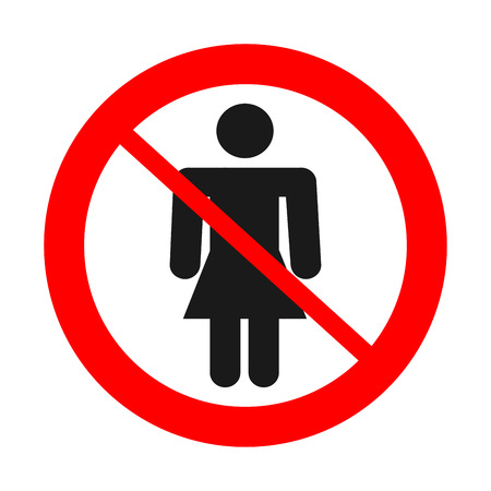 Sign no woman. Illustration