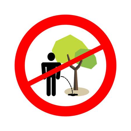 limpieza: Sin pis bajo el signo árbol. Prohibición.