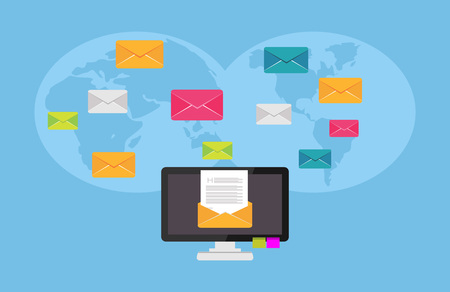 Communication concept. Email. E-mail Illustration