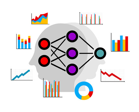 Artificial neural network, deep learning, data mining for predicting pattern Stock Illustratie