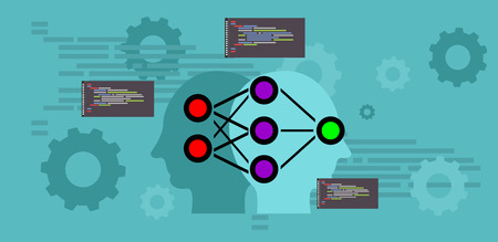 Machine learning. Artificial neural network concept