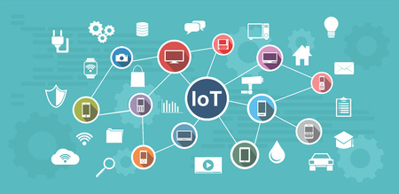 Internet of Things. IoT abstract concept.