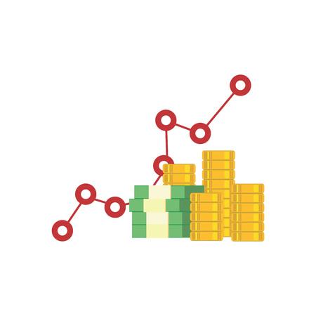 economic forecast: Business growth. investment. money. Illustration