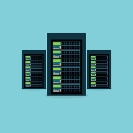 Server symbol. Server room. Data Center. Vector.