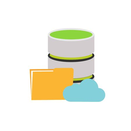 Database, Server icon, Cloud storage icon vector Illustration