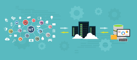 Data warehouse and represent data concept. Data mining. Backup process concept.