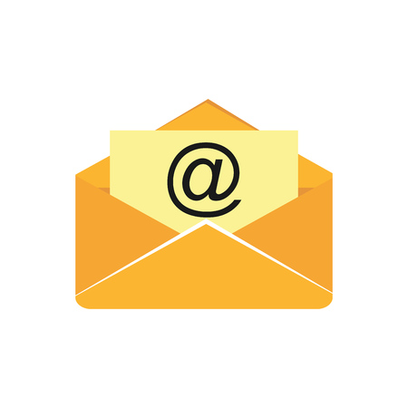 Open mail icon. Envelope. Email marketing.