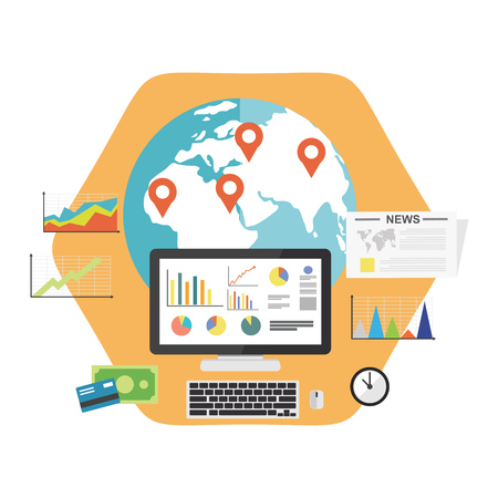 Data driven marketing. Business growth or business analysis concept