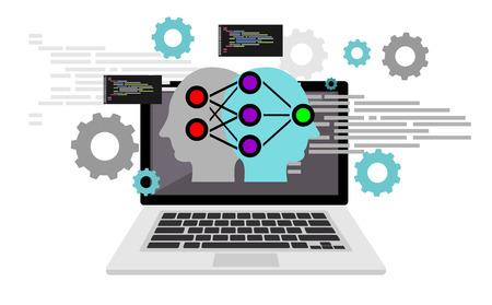Artificial intelligence programming language.. Code scripting. Programming