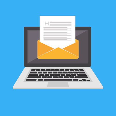 Email icon or symbol. Sending or receiving email. Çizim