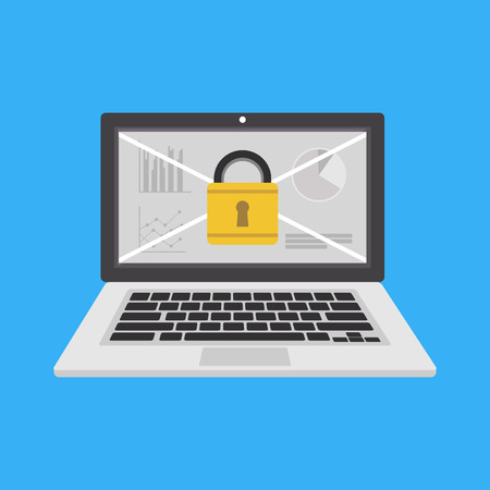 Data protection, security system icon or symbol. Vektorové ilustrace