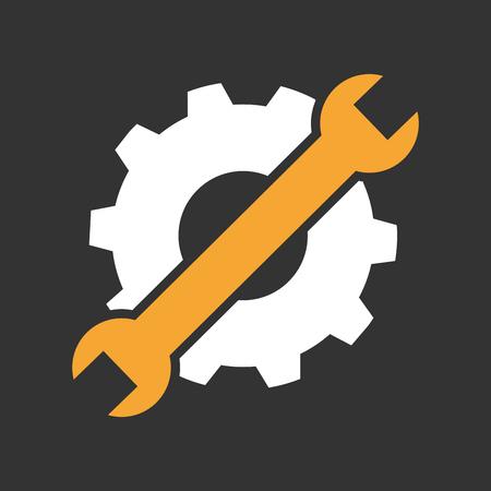 Maintenance or troubleshooting icon or symbol flat design.
