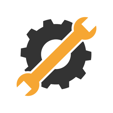 Maintenance or troubleshooting icon or symbol flat design.