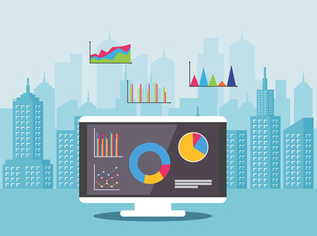 Concept of real estate market analysis. Financial strategy. Property investment.