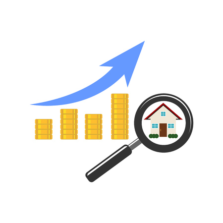 Shows a rise in prices for real estate. Growth in sales of real estate. Expensive house