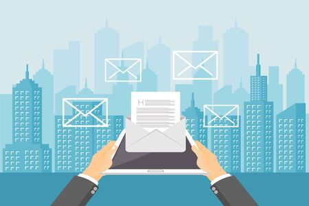 Email marketing. Business communication. Business promotion concept.
