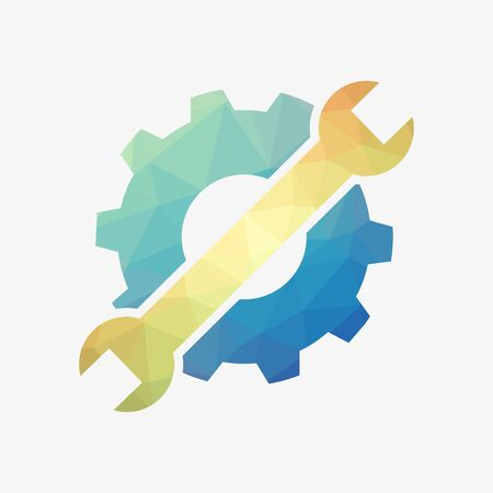 Machine repair icon. Maintenance or development symbol.