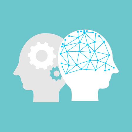Artificial intelligence concept illustration. AI symbol.