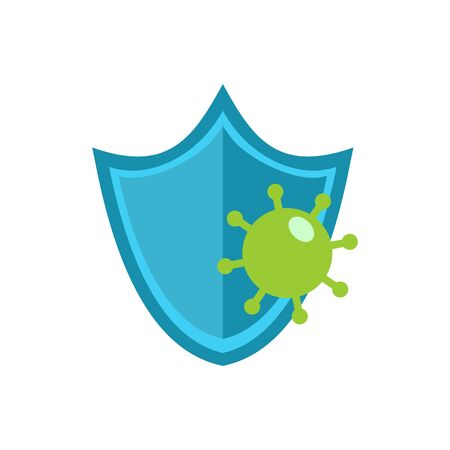 Virus Prevention illustration. Corona Virus Prevention, Global Spread, and Concept of Icon of Stopping Virus.