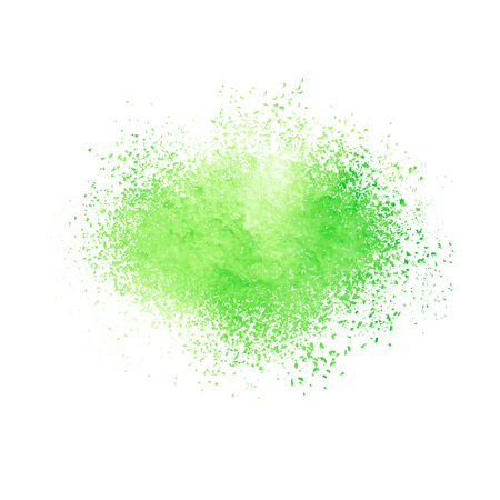 Abstract background with green textured watercolor spot. Vector illustration. Ilustração