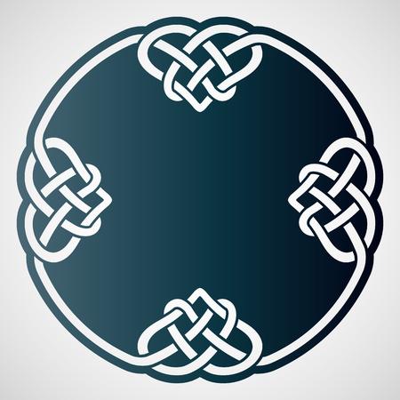 Durchbrochenes rundes Element mit keltischem Motiv. Laserschneidschablone für Grußkarten, Umschläge, Hochzeitseinladungen, dekorative Innenelemente.