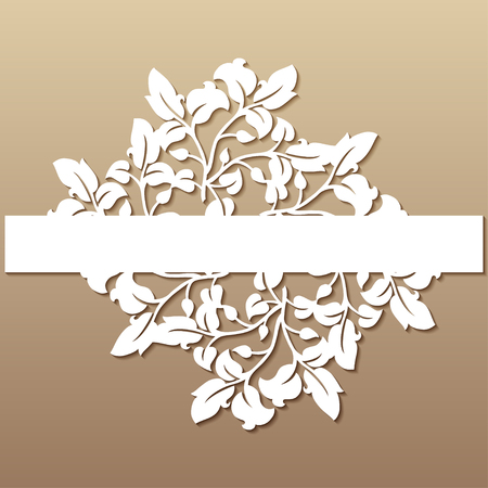 Openwork wedding decor in victorian style. Laser cutting template for invitations, greeting cards, interior decorations.