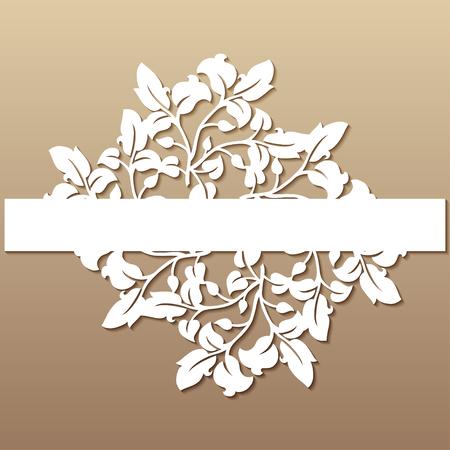 Durchbrochene Hochzeitsdekoration im viktorianischen Stil. Laserschneideschablone für Einladungen, Grußkarten, Innendekorationen.