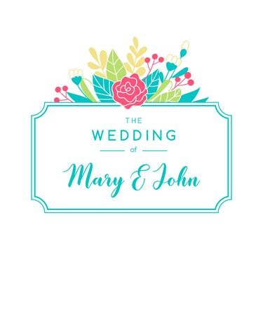 Tender wedding invitation background. Vector greeting card design with floristic elements and area for text.