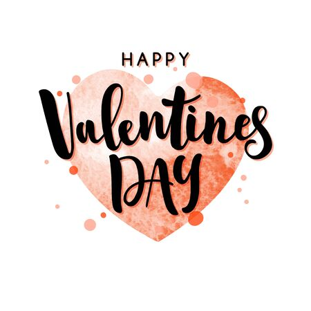 Valentines day lettering suitable. Handwritten text vector template for cards, posters or invitations. 版權商用圖片 - 138431386