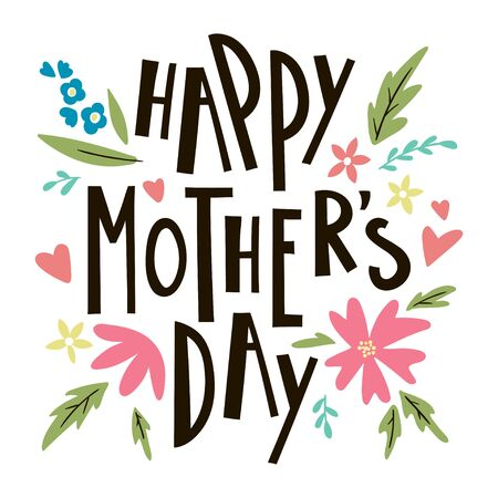 Happy mothers day lettering. Vector template for greeting cards, posters, invitations. 版權商用圖片 - 138567054