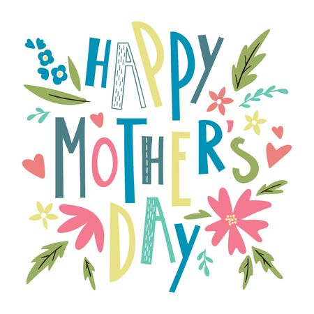 Happy mothers day lettering. Vector template for greeting cards, posters, invitations.
