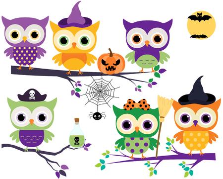 Monstruos Del Vector Lindos, Divertidos Y Tontos Para Halloween En ...