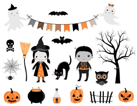 Patrón Transparente De Vector Para Halloween Con Carácter De Bruja ...