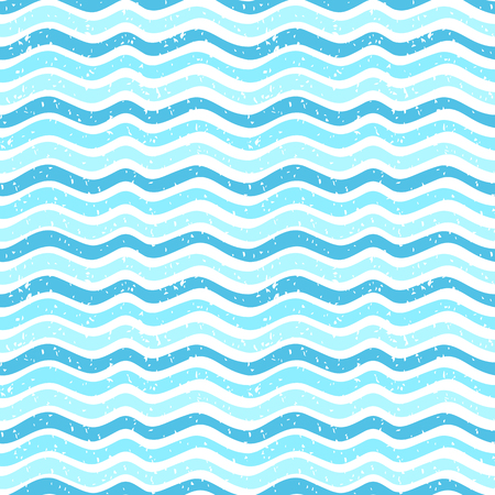 Seamless abstract vector pattern with waves and texture for paper and fabric design Illustration